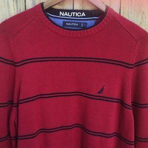 Nautica Striped Cotton Crewneck Sweater EUC sz S